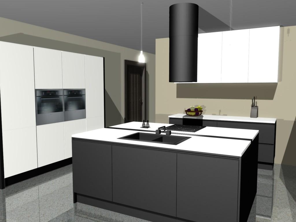 Strefy pracy w kuchni, wyspa w kuchni, zlew na wyspie, płyta indukcyjna na wyspie