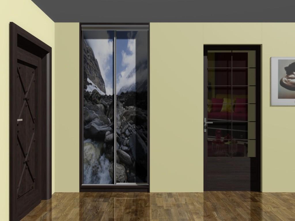 Projektowanie wnętrz - szafa wnękowa