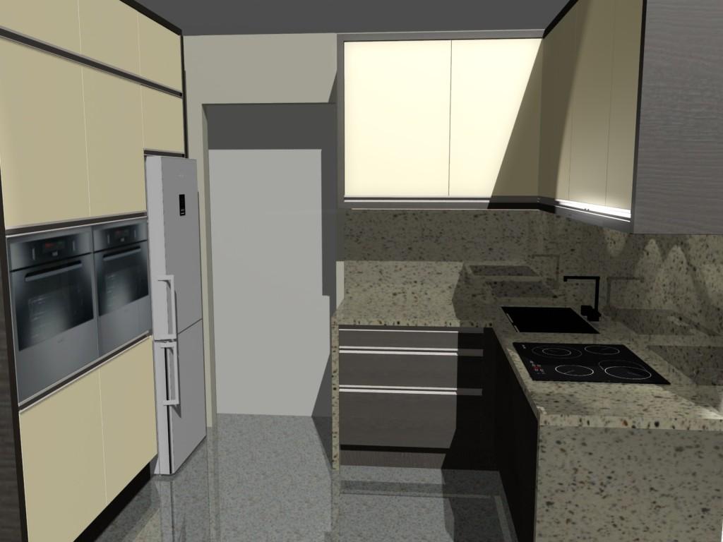 kuchnia w bloku do sufitu