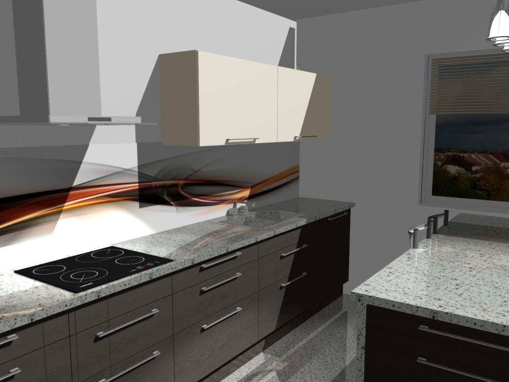 Projekt kuchni  kuchnia wenge i wanilia  Projekty i   -> Kuchnie Wanilia Wenge