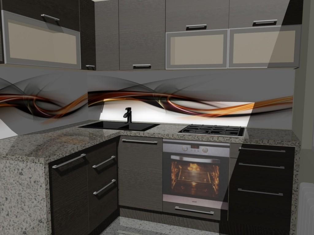 mala kuchnia, fototapeta, ramki aluminiowe