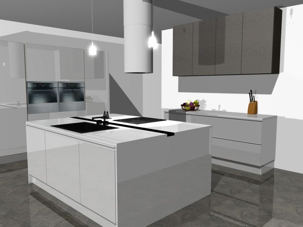 nowoczesna kuchnia 3  Projekty mieszkań i Meble na wymiar  Wystrój wnętrz