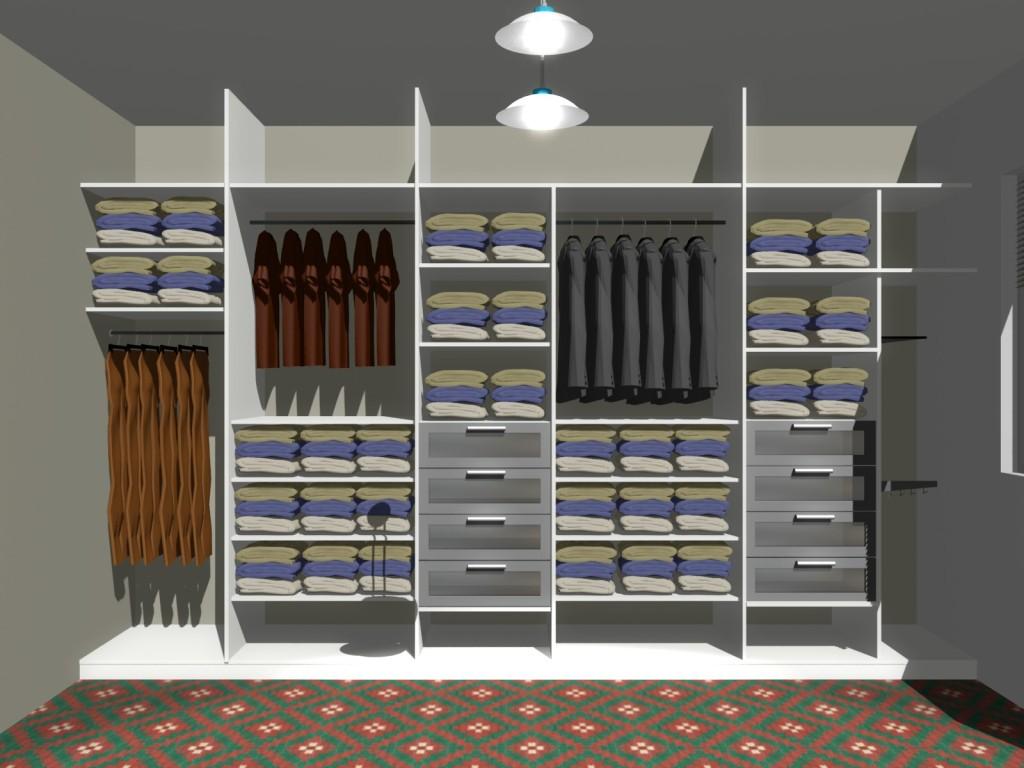 aranżacja dużej garderoby
