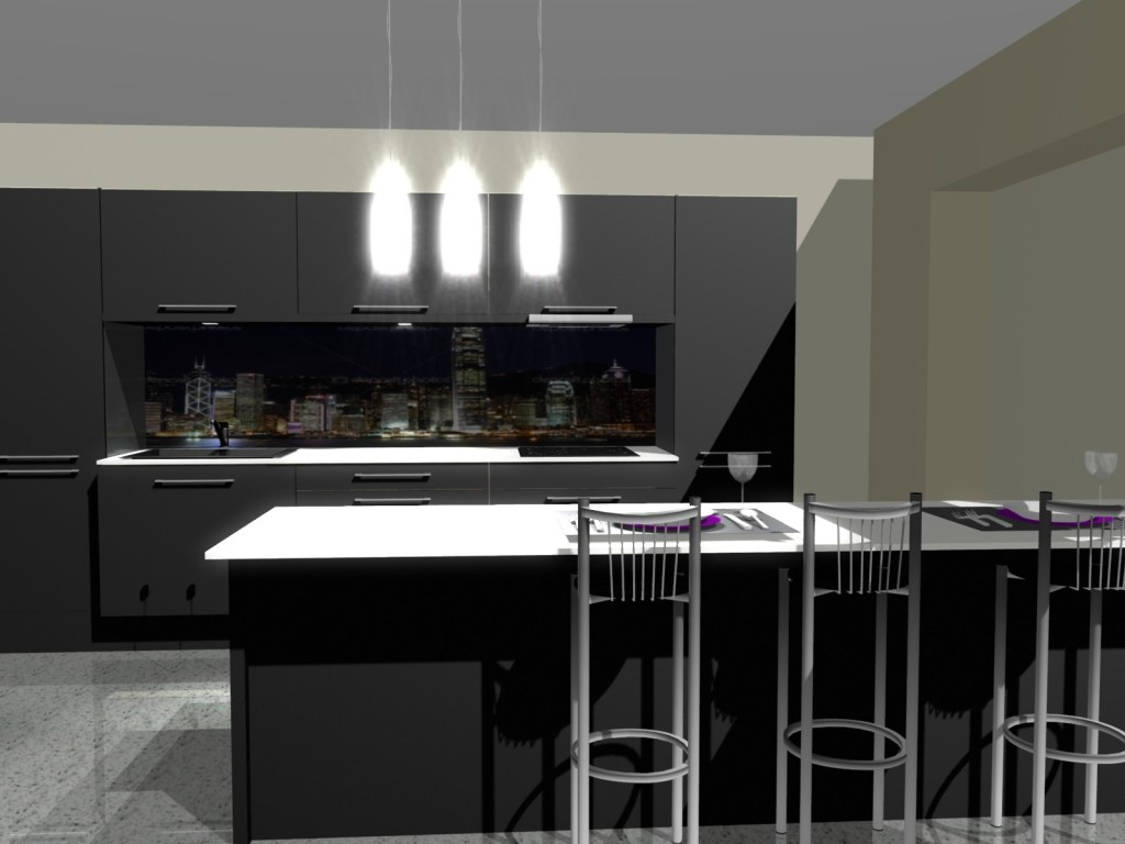 Fototapeta do kuchni zamiast płytek