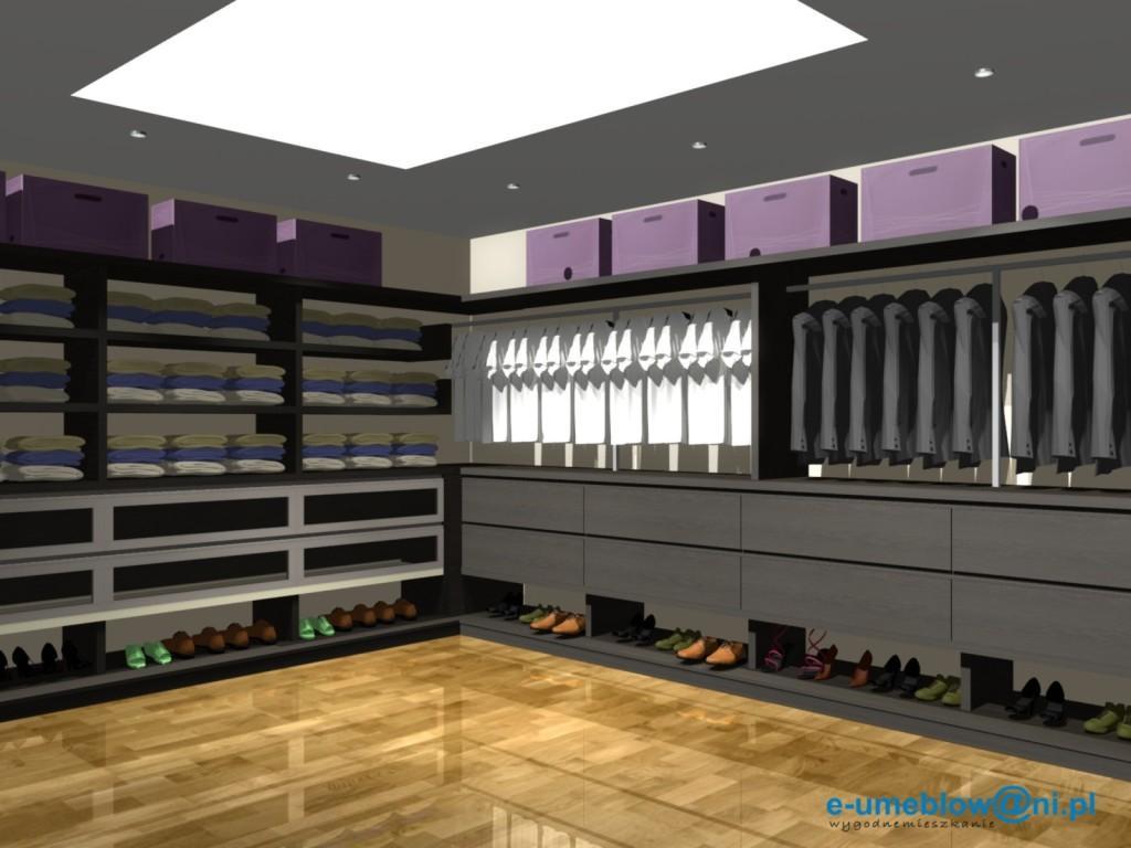 Garderoba z szufladami