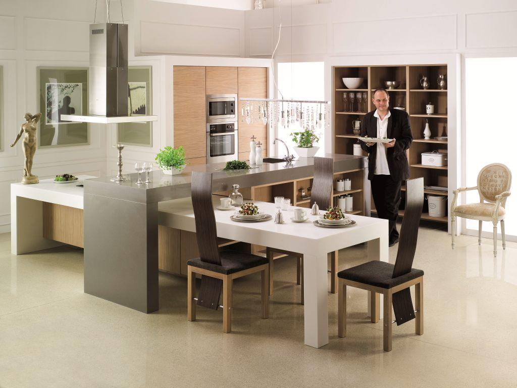 nowoczesne projekty kuchni z salonem