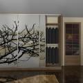 Drzwi przesuwne z fototapetą drzewo