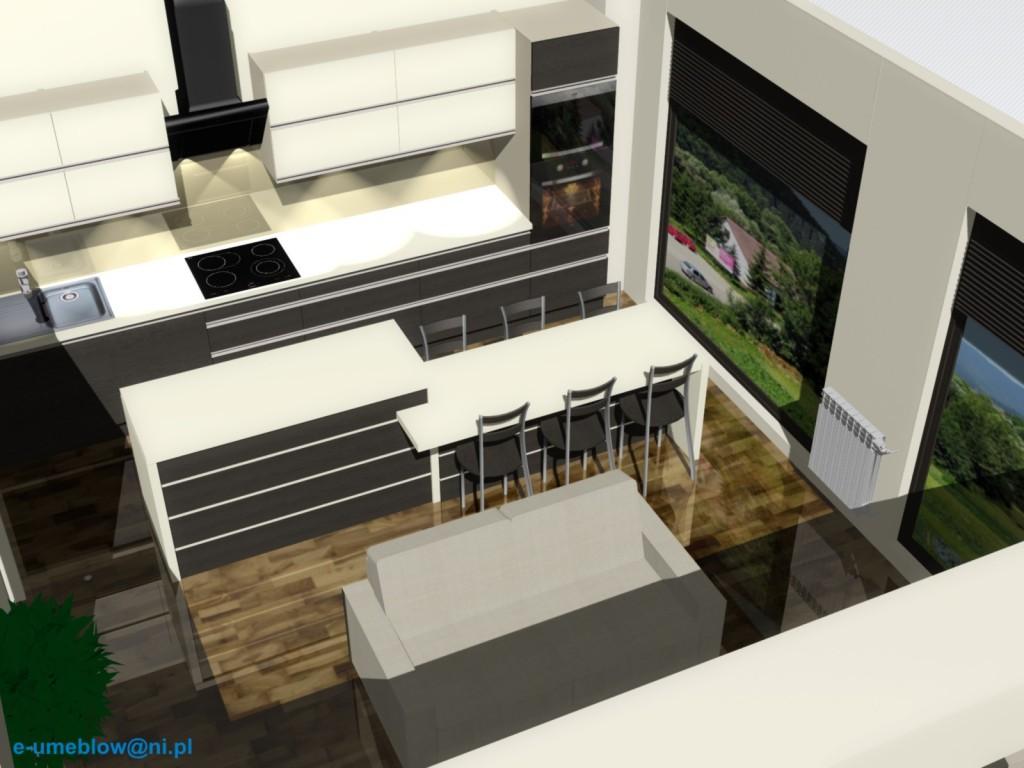 Kuchnia z salonem 6 projekty i aran acje wn trz for Projekty kuchni z salonem