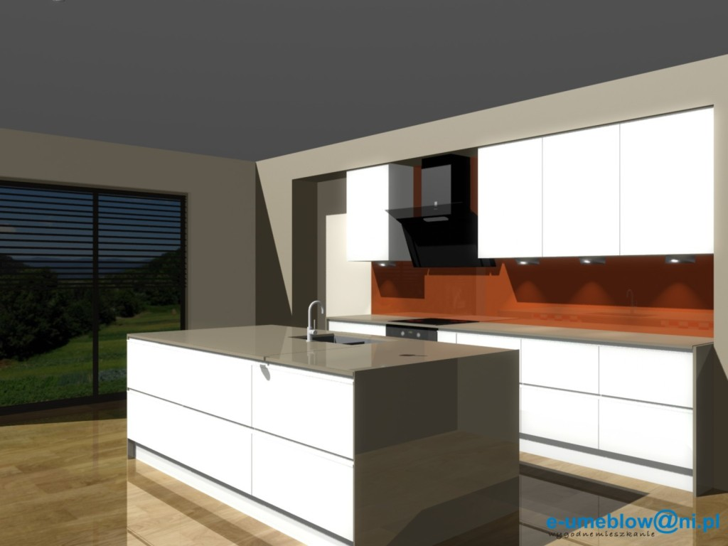 projekty kuchni otwartej na salon