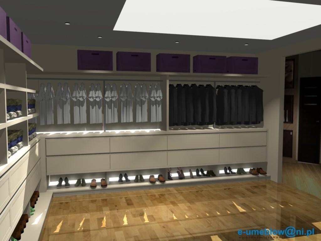 waniliowa garderoba