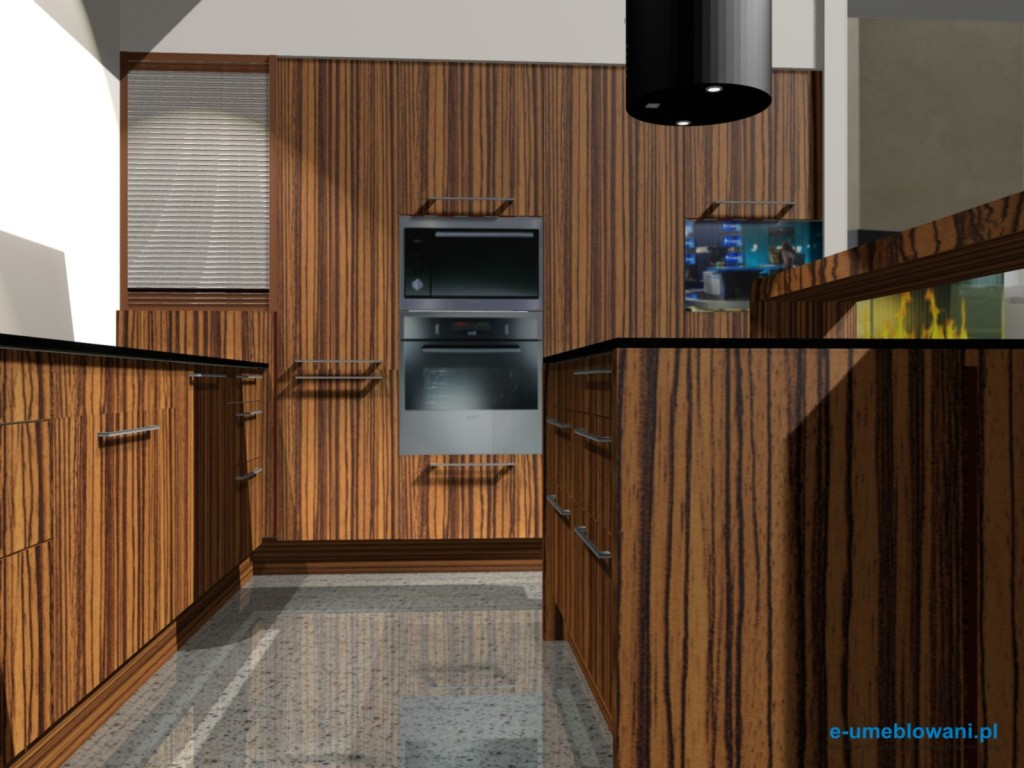 projekt kuchni małej z salonem