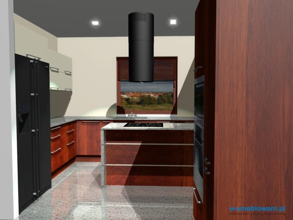 Lodówka side by side w kuchni