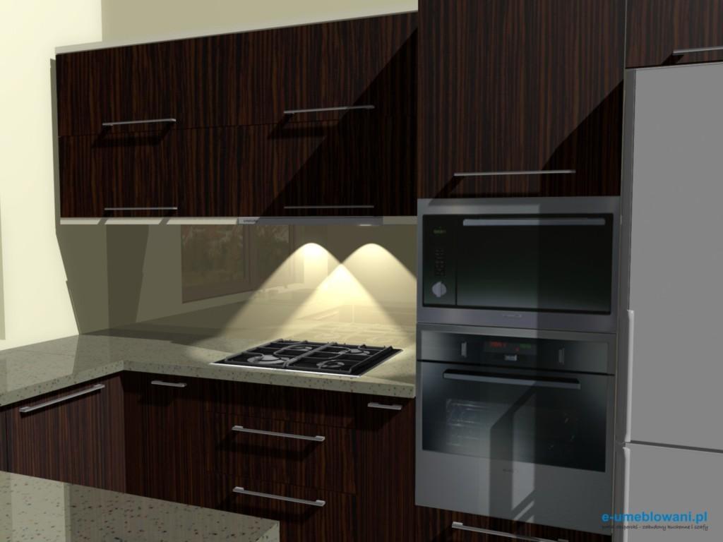 projekt kuchni zebrano z beżem 2