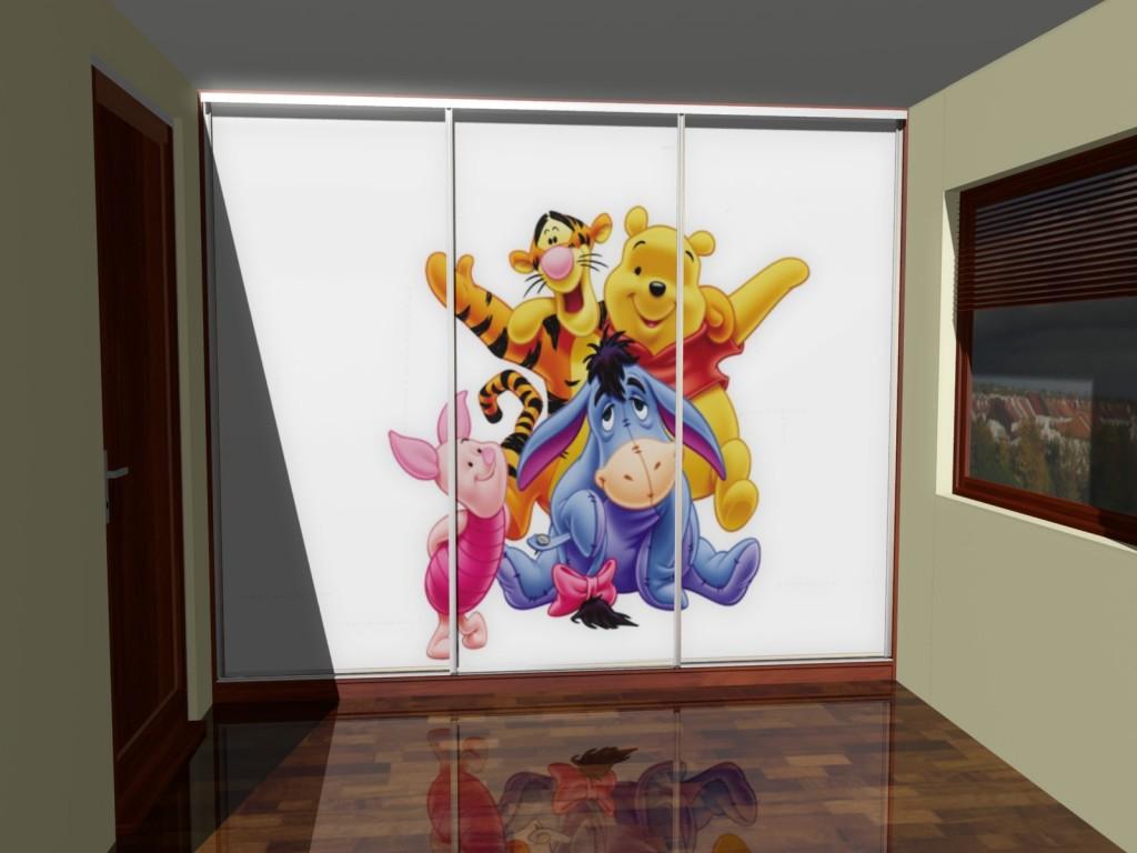 Szafa do pokoju dziecięcego. Fototapeta