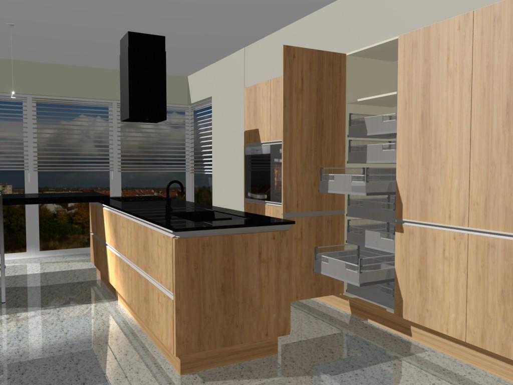 szuflady wewnętrzene w kuchni