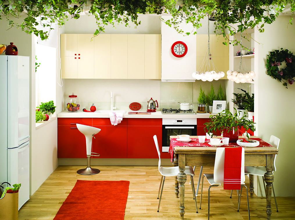 Projekty Kuchni czerwonej z wanilią Zdjęcia