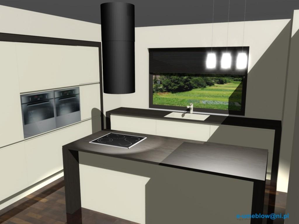Projekty nowoczesnej kuchni otwartej -> Projekt Kuchni Z Niskim Oknem