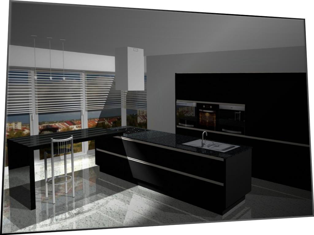 projekt kuchni z pełną aranżacją wnętrza - Kopiuj (Duplicate)