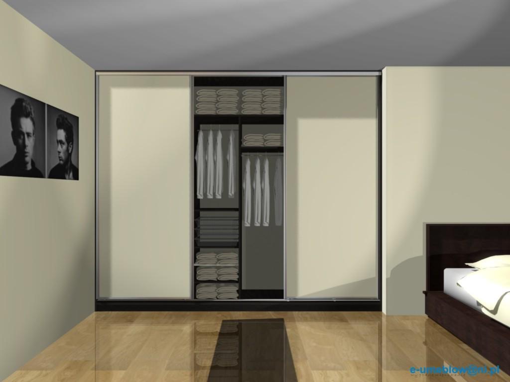 projekty szafy do sypialni