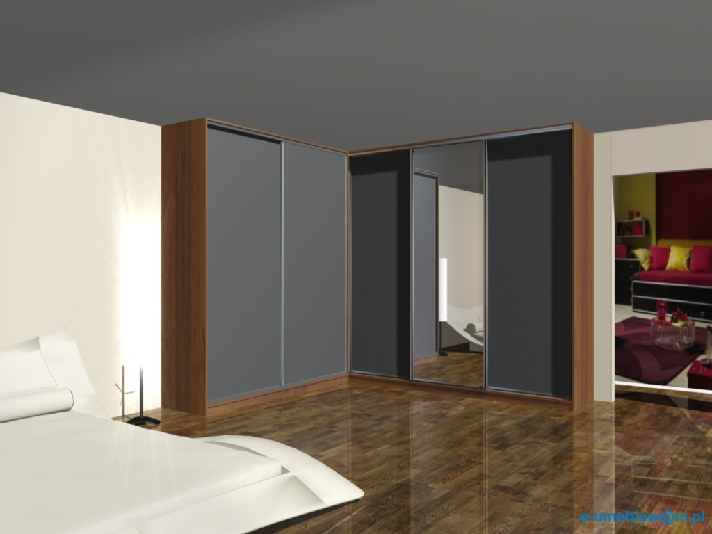 projekty szafy w sypialni