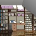 projekt garderoby na poddaszu