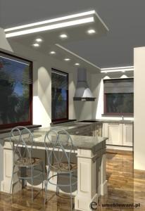kuchnia prowansalska z trzema oknami