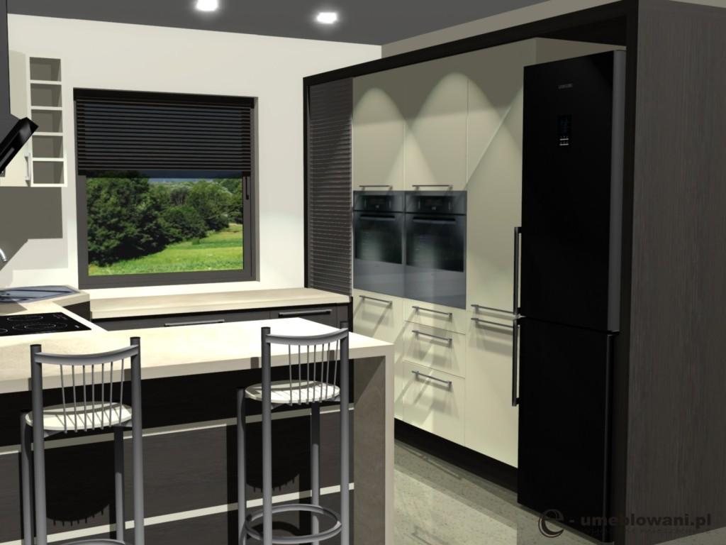 Małe projekty kuchnim, roleta aluminiowan barek, zlew narozny