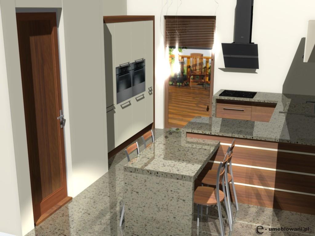 kuchnia w bloku z oknami