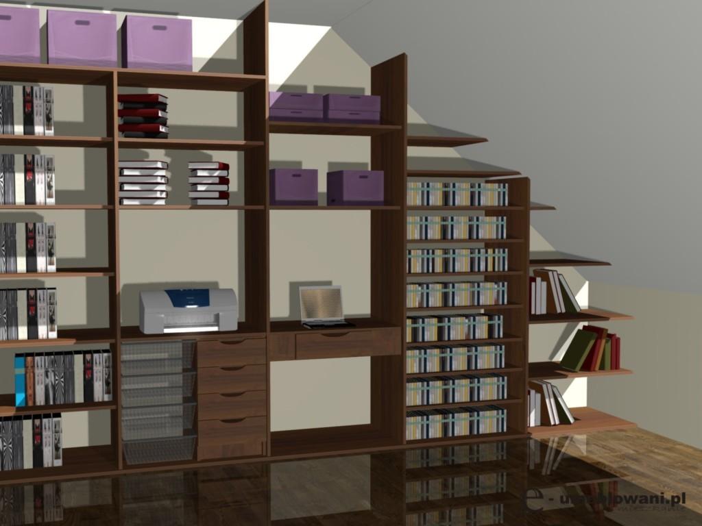 Projekt szafy na poddaszu