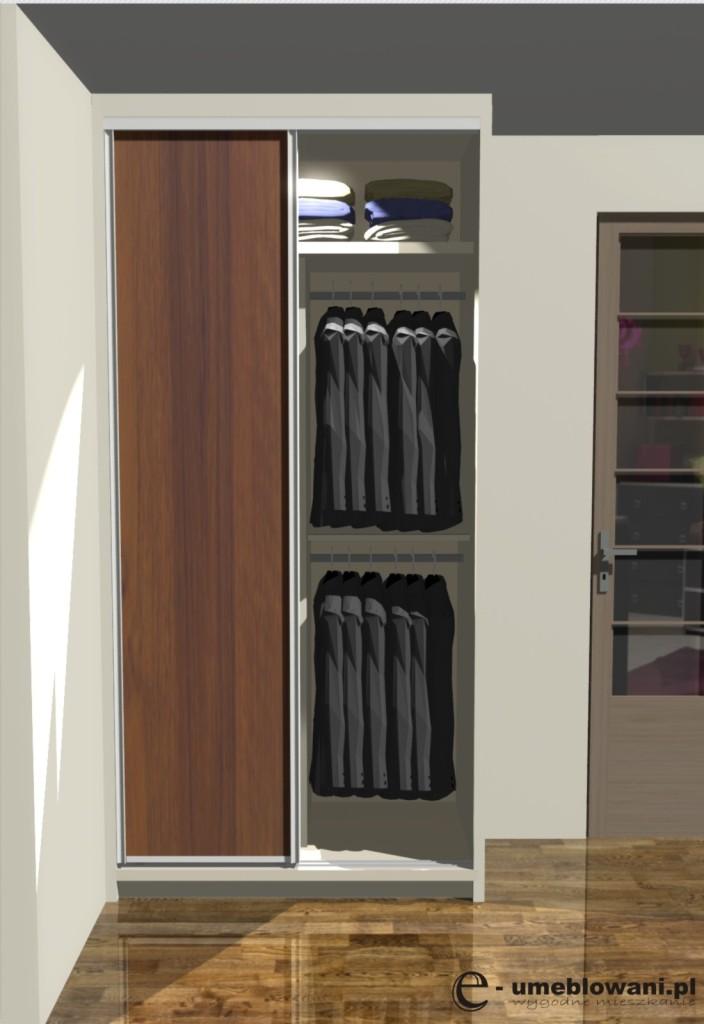 Drzwi przesuwne w szafie do zabudowy
