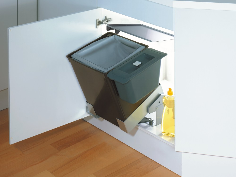 kuchnia, meble kuchenne, kosze na śmieci uchylny w szafce