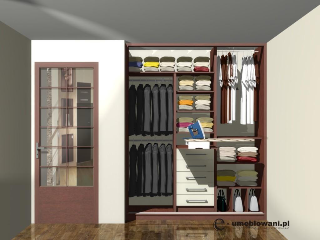 projekt szafy z deską do prasowania