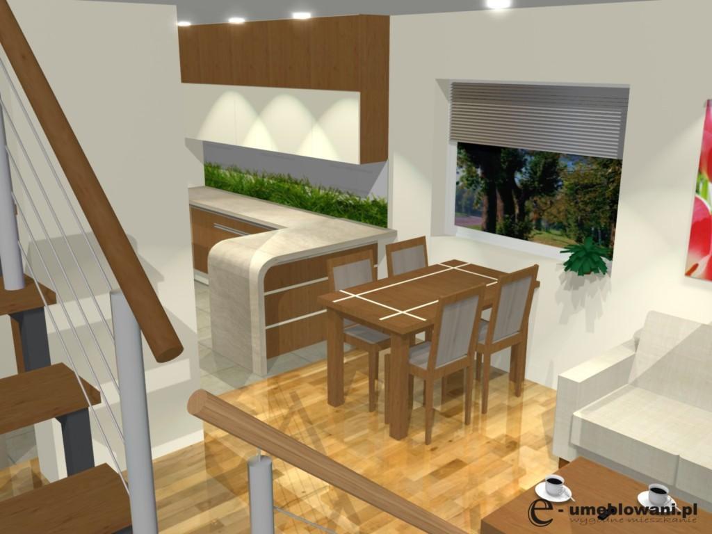 aranzacja otwartej kuchni z salonem Archives  Projekty   -> Salon Kuchni Cieszyn