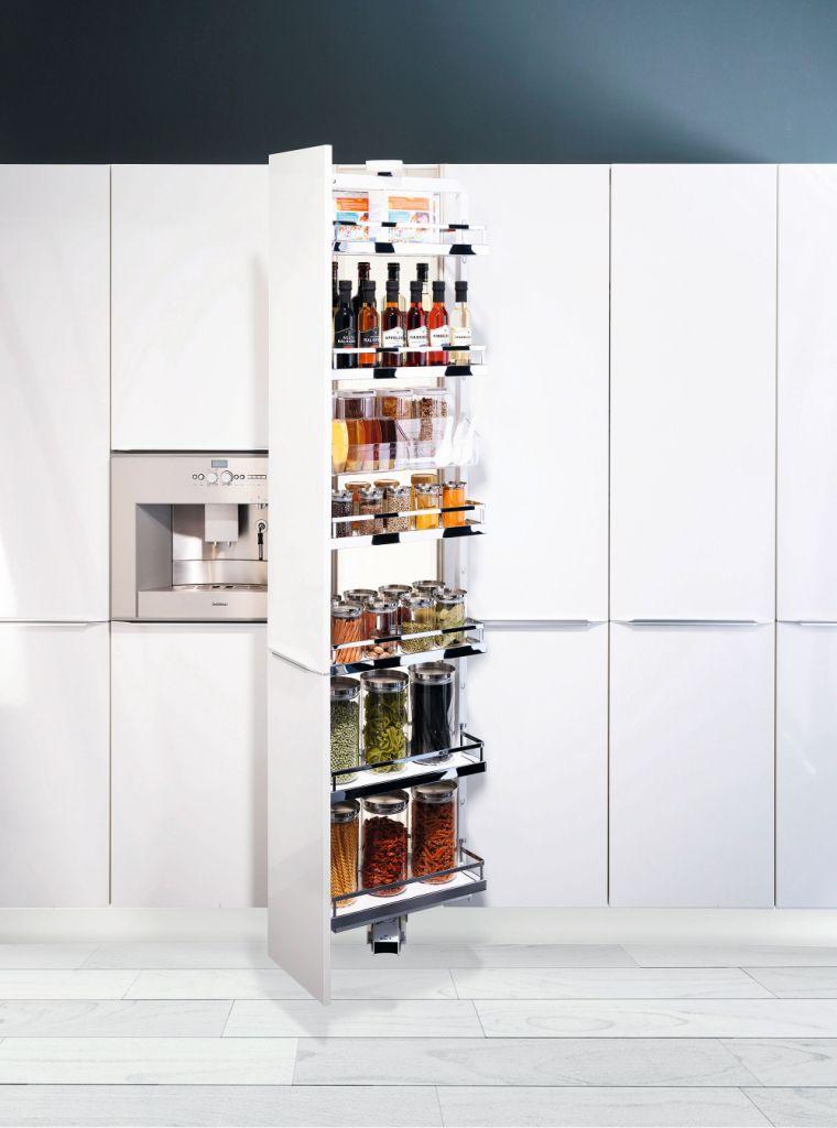 kuchnia, meble kuchenne białe, cargo w słupku, Najnowsze rozwiązania dla Twojej kuchni Cargo Peka