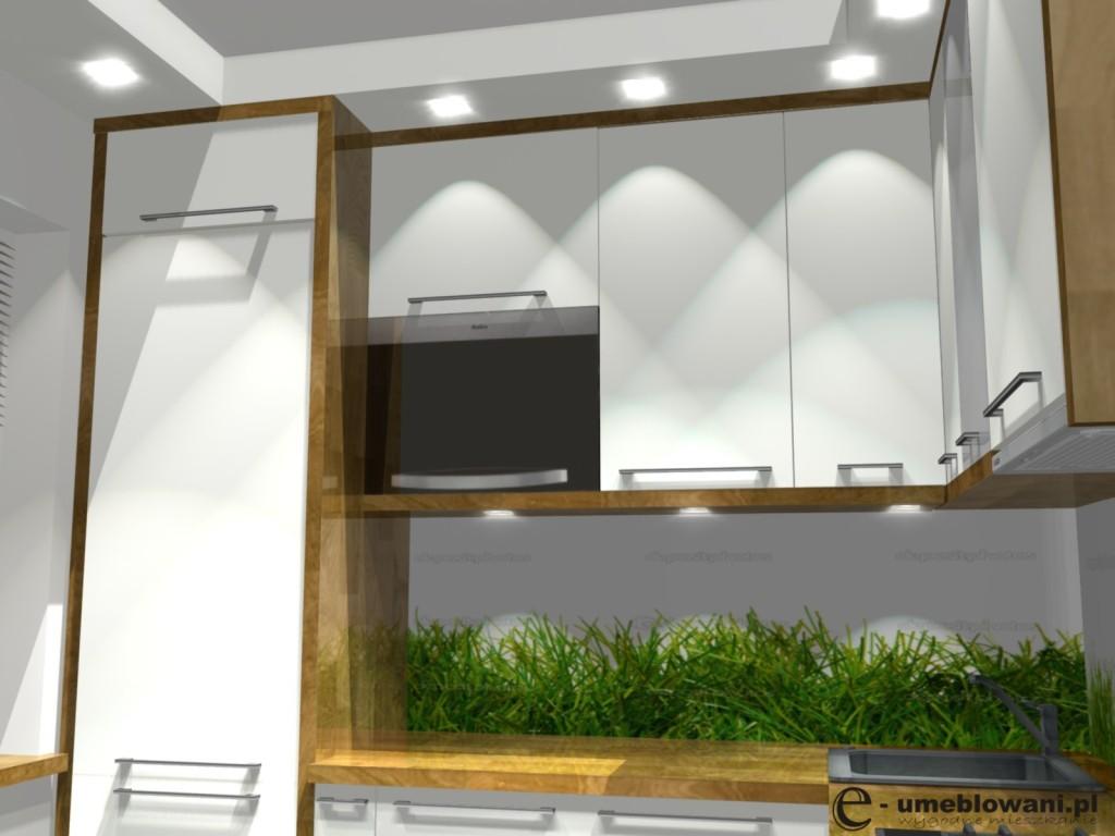 kuchnia, biała, drewno, blat drewniany, Kuchnia w bloku aranżacje małej kuchni z drewnem