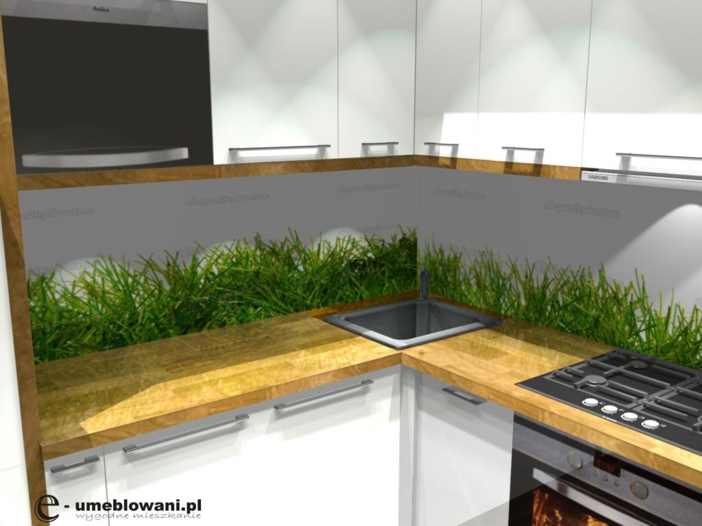 Kuchnia w bloku aranżacje małej kuchni z blatem drewnianym