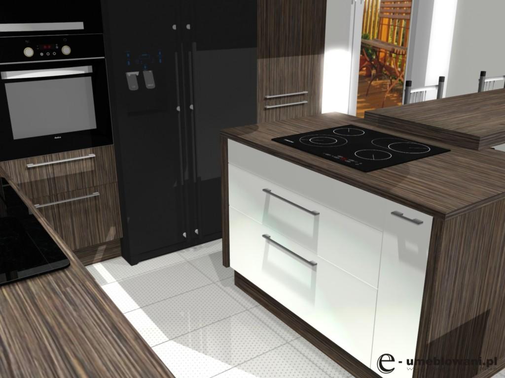kuchnia, meble kuchenne białe, Aranżacje kuchni w kolorze zebrano z białym i czarnym