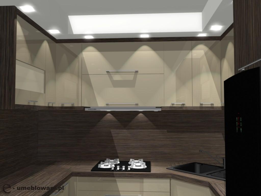 kuchnia, drewno na ścianie, aranżacje sciany w kuchni