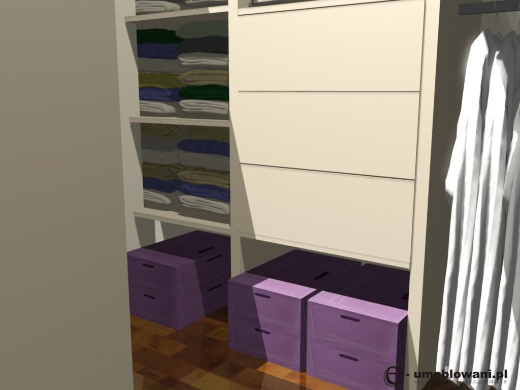 garderoba, szuflady, półki, Funkcjonalna garderoba z pawlaczem