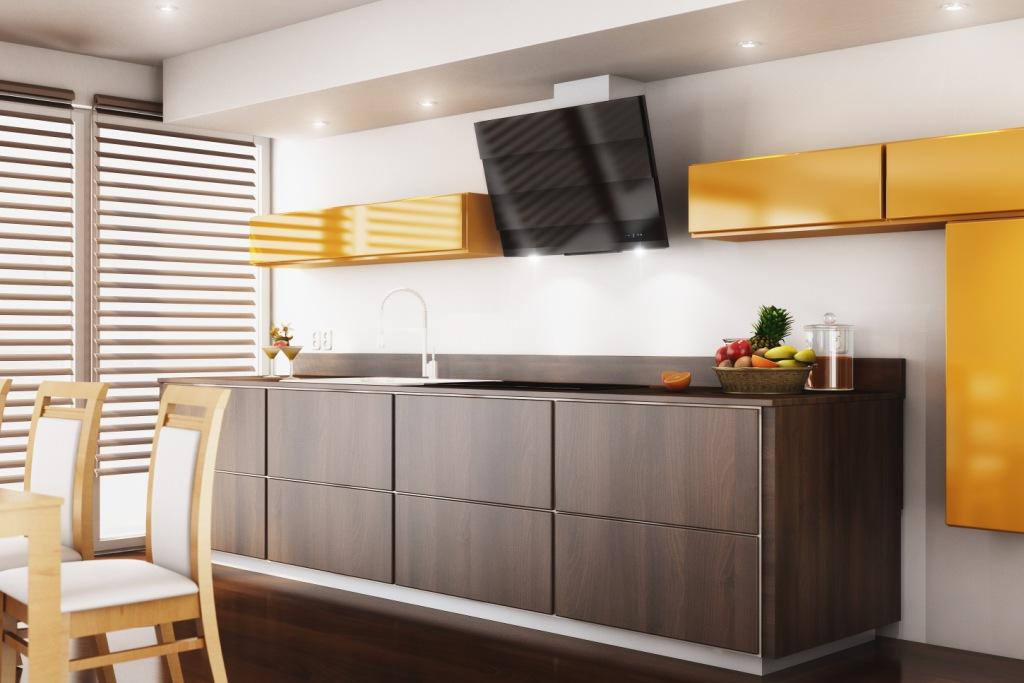 kuchnia, brąz, drewno, Jak wybrać okap do kuchni nowoczesnej