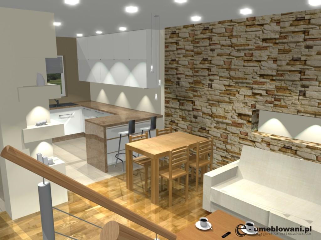 Kuchnia z salonem archives projekty i aran acje wn trz for Projekty kuchni z salonem