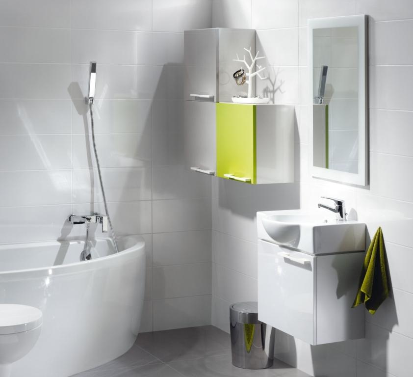 łazienka, biała, Aranżacja łazienki białej nano