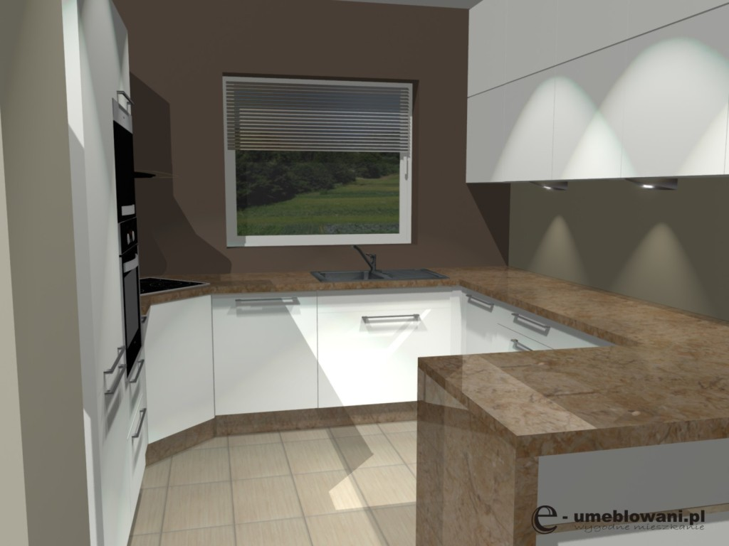 biala kuchnia  Projekty i aranżacje wnętrz