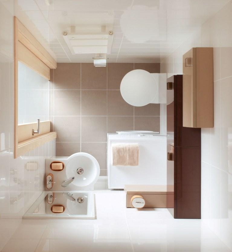 łazienka brąz, beż, aranżacja łazienki nowoczesnej