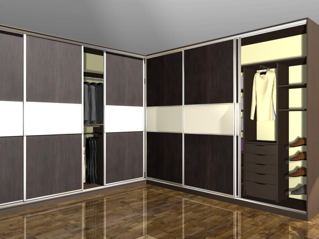 wygodna szafa narożna z drzwiami przesuwnymi, szuflady, miejsce na krawaty, miejsce na buty, miejsce na torebki