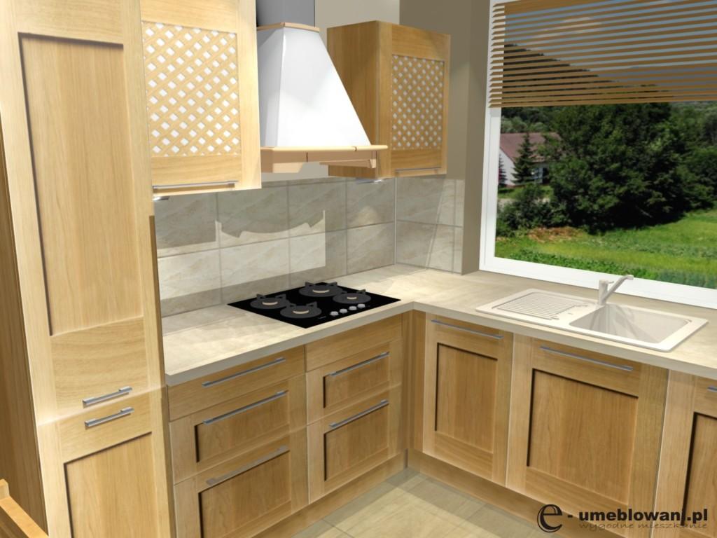 Projekt kuchni klasycznej w drewnie