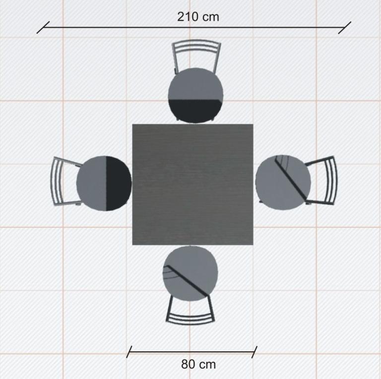 ile miejsca potrzeba na stol rysunek 1