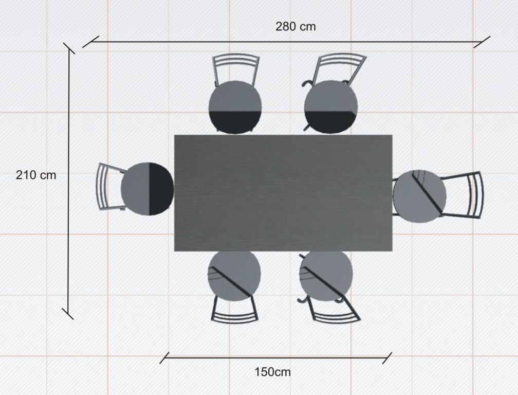 ile miejsca potrzeba na stol rysunek 3