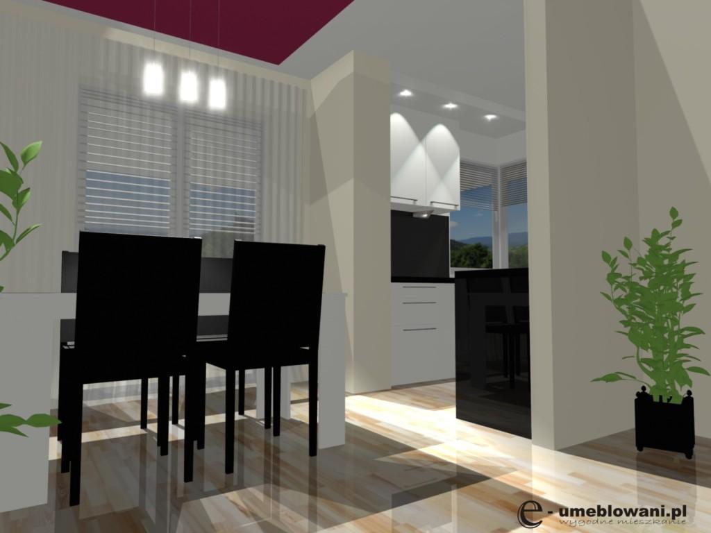 jadalnia w salonie z kuchnia  Projekty i aranżacje wnętrz   -> Kuchnia Jadalnia Salon Razem