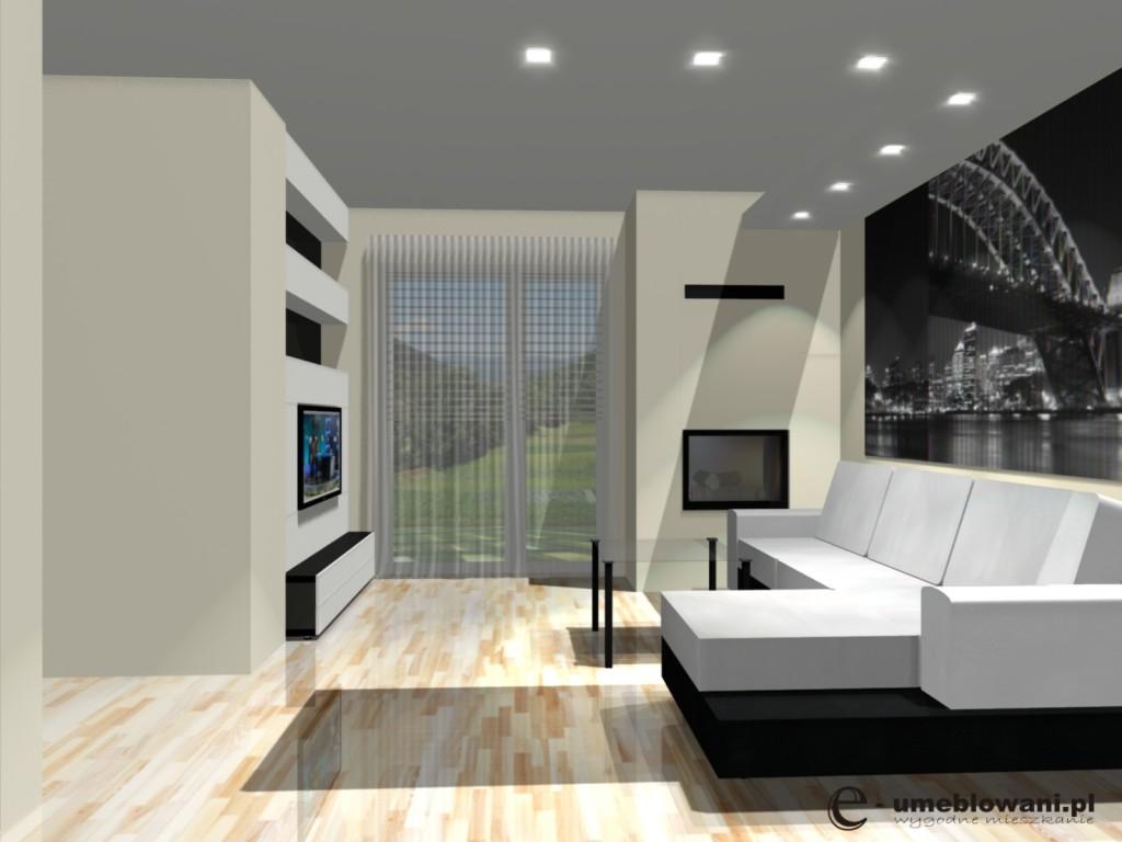 Jadalnia w salonie  Projektowanie wnętrz i Meble na  -> Salon Kuchni Mielec